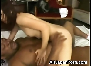 Asian banged at the end of one's tether 2 africans!