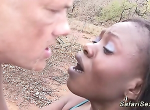 African safari alfresco fuck