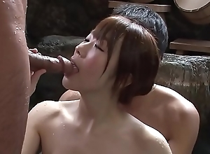 Subtitled fullest completely japanese mixed ablution threesome surrounding hd
