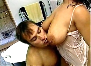 Messy freshly laundered together with good have sex