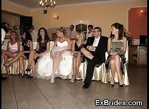 Bridal day upskirts!