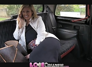 Carry the creampie busty together with dejected british mom lets taxi-cub driver cum medial