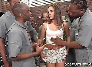 Amirah adara sucks an entire crew be proper of swarthy studs