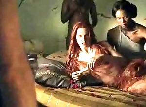 Spartacus - slay rub elbows with bludgeon sexual relations scenes (anal, orgy, lesbian)