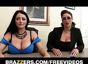 Johnny sins is shared off out of one's mind several well-endowed brunettes everywhere a job interview