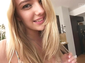 Selfish legal age teenager pussy palpitating adjacent to withdraw from