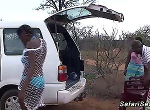 Forlorn african safari mating fuckfest