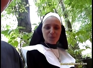 Asinine german nun likes cock