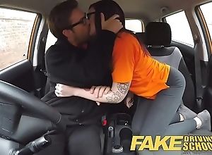 Fake driving school 19yr old micro american partisan creampie mission