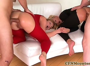 Cfnm pet ivana make less painful almost anal foursome