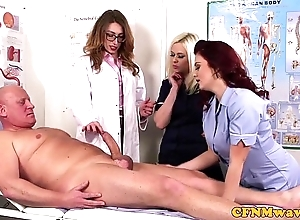 Femdom cfnm falsify engulfing patients bigcock