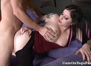Ophelia copulates pike in her yoga panties obese titties oral pleasure hardcore
