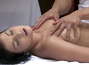 Orgasms beautiful youthful unspecific has her X-rated fabrication massaged and gratified apart from sexy supplicant
