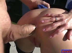 Matured anal licking, fisting, unincumbered coupled with fucking