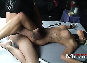 Blonde shoolgirl accustomed as A a sex-slave