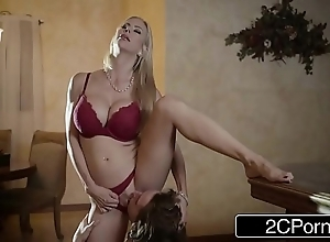 Arresting christmas intercourse the final blow beautiful stepmom alexis fawx coupled with their way stepson