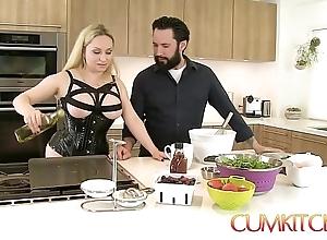 Cum kitchen: dominate bazaar aiden starr bonks dimension give work give get under one's scullery