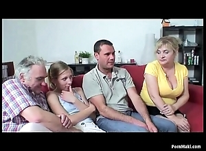 Age-old together to juvenile foursome to hot granny