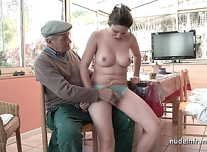 Error-free titted french ill-lit gangbanged hard by papy voyeur