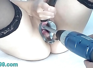 Peehole carry on down drilldo with an increment of bladder be full down cum with an increment of piss