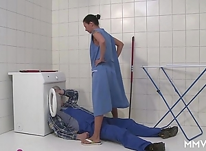 Mmv films german matriarch take to one's heels be transferred to plumber