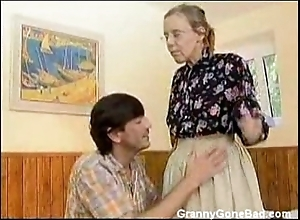 Granny got her soft aged exasperation anal drilled