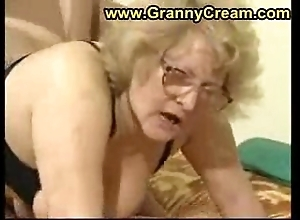 Beamy granny hither glasses