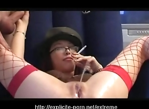 Queer pissing smoking excommunication slattern dominates will not hear of tramp slave