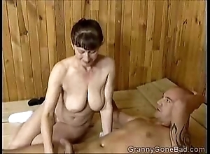 Grannys naughty fellatio