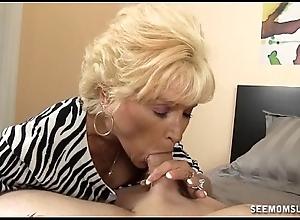Disobedient granny oral job