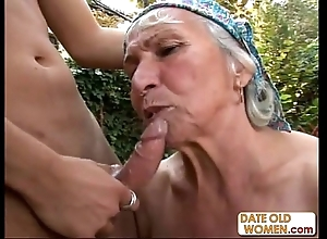 Granny acquires reamed away from juvenile stud outdoors