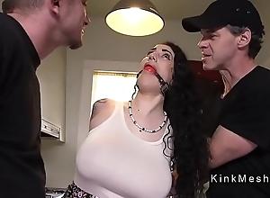 Brobdingnagian pair alt slave acquires anal screwed