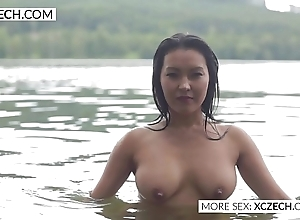 Superb asian electric cable housemaid making titillating swimming - xczech.com