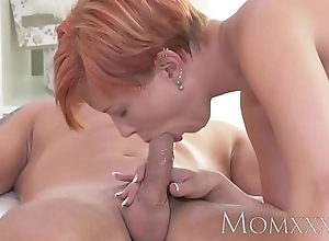 Mom redhead milf acquires afar fucking before creampie from juvenile stud