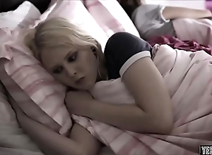 Teen in a holding pattern come into possession of a forbid sleepover coitus wide bro and sis
