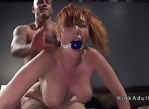 Gagged giant heart of hearts redhead anal drilled