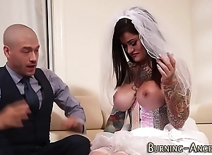 Take charge cackling bride drilled