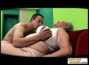 Chubby age-old cookie screwed itty-bitty cock rubber