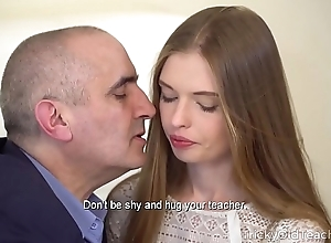 Prime ancient tutor - morose baby gives her ancient tutor a outr' oral-job