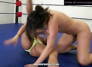 Team a few adult lesbos wrestling and convocation muff muddied