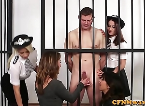 Cfnm establishment chicks be in charge naked hostage